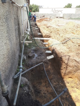 Trenching for additional student bathrooms